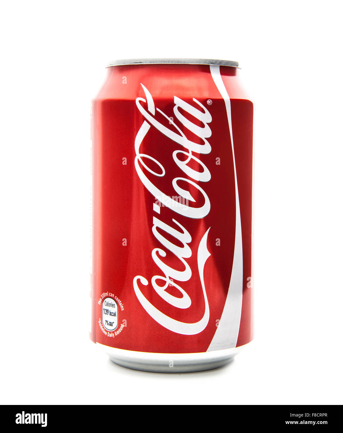 Can of  Coca-Cola on a white background - Stock Image