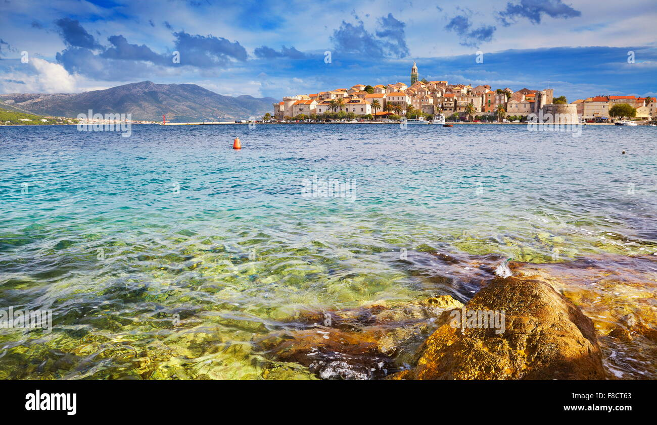 Korcula Island, Dalmatia, Croatia, Europe - Stock Image