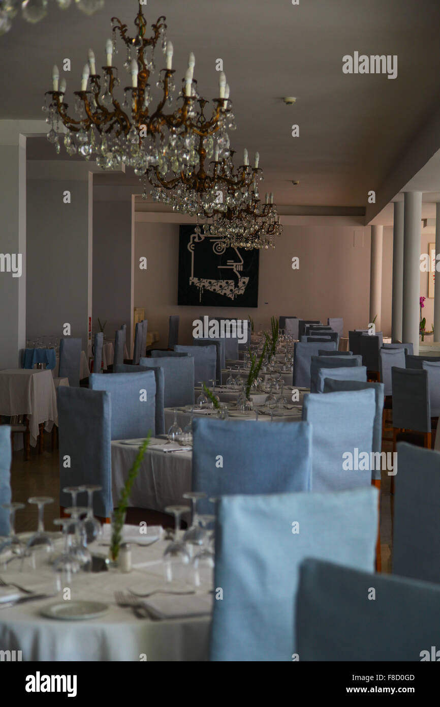 The chandelier for various measurement of the room additionally needs completely different brightness of the chandelier - Stock Image
