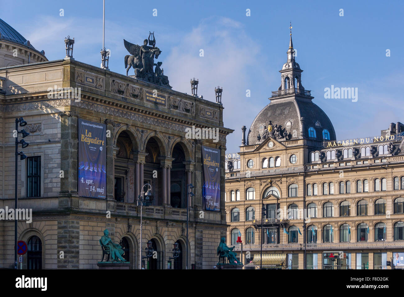The Royal Theatre and Magasin Du Nord, Copenhagen, Denmark - Stock Image
