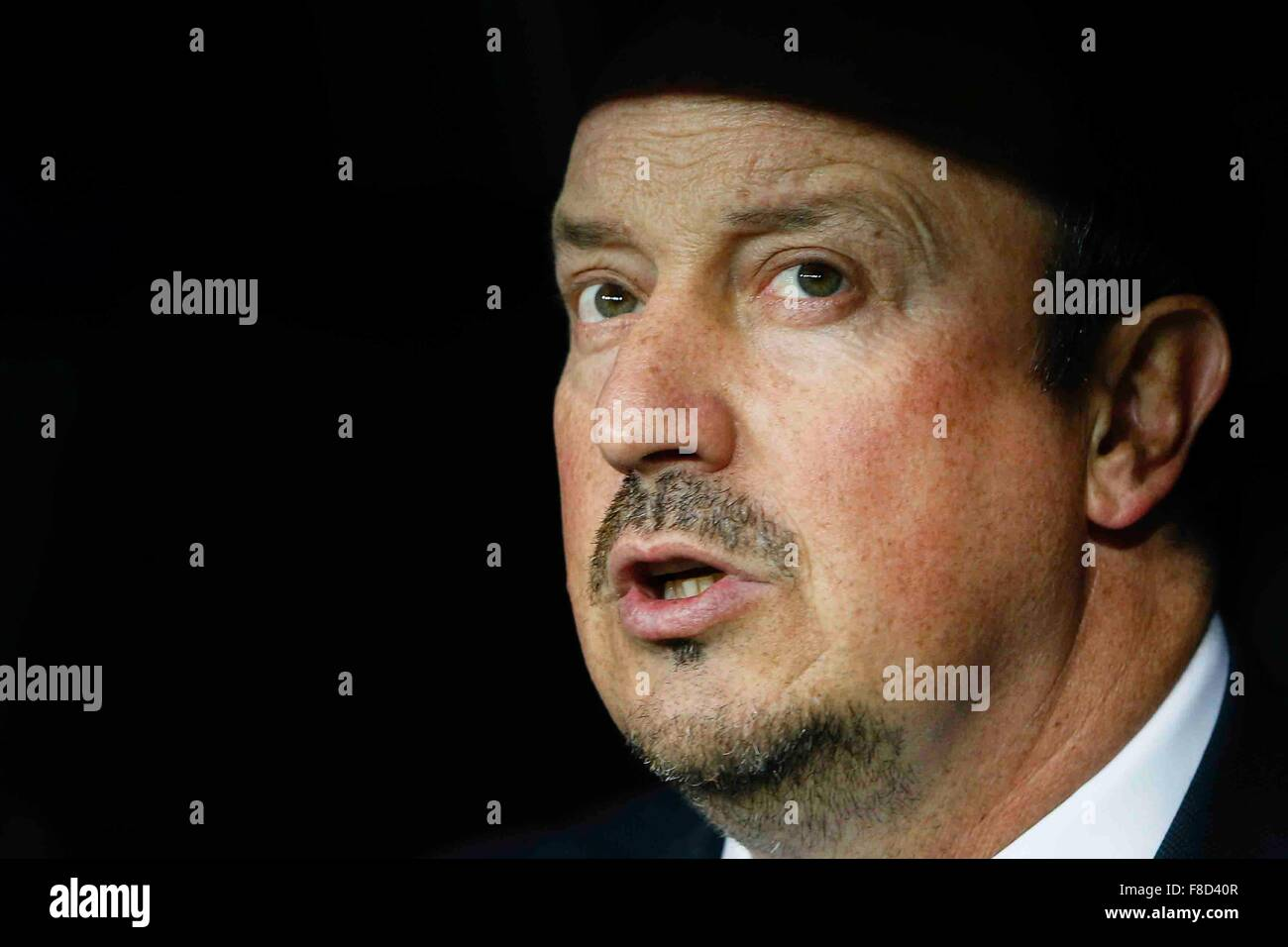 madrid, spain. 08th dec, 2015. rafa benitez coach of real madrid