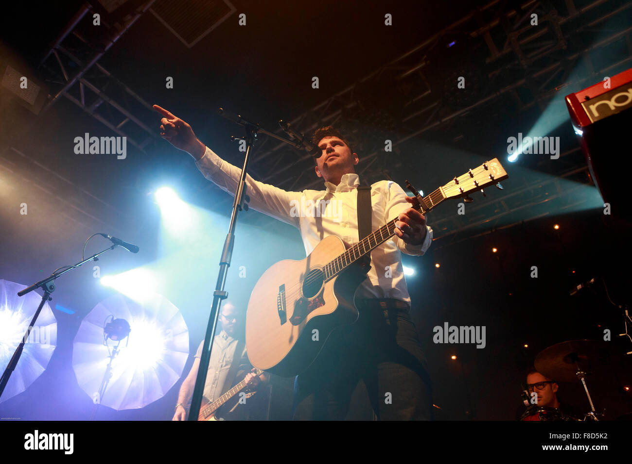Edinburgh, UK. 8th December. SCOUTING FOR GIRLS performs on stage in The Liquid Rooms Edinburgh. Roy Stride. Pako - Stock Image