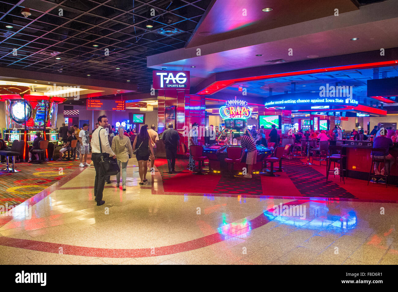 the interior of linq hotel and casino in las vegas stock photo 91259813 alamy. Black Bedroom Furniture Sets. Home Design Ideas