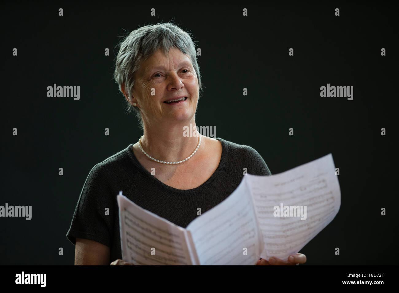 Liza Hobbs, vocal singing coach tutor music teacher at MusicFest Aberystwyth, 2015 - Stock Image