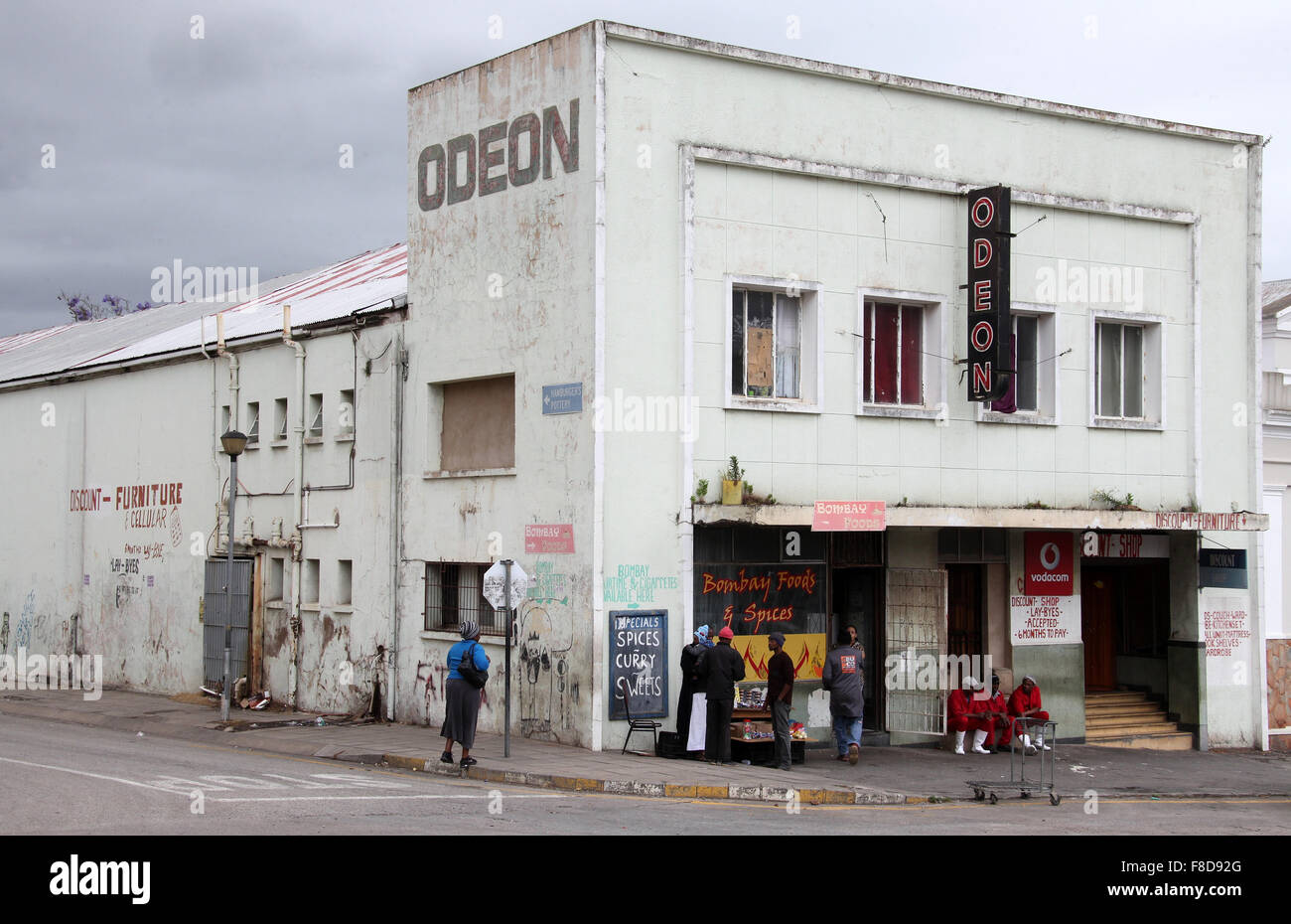 Odeon Cinema Building at Grahamstown in the Eastern Cape Province of South Africa - Stock Image