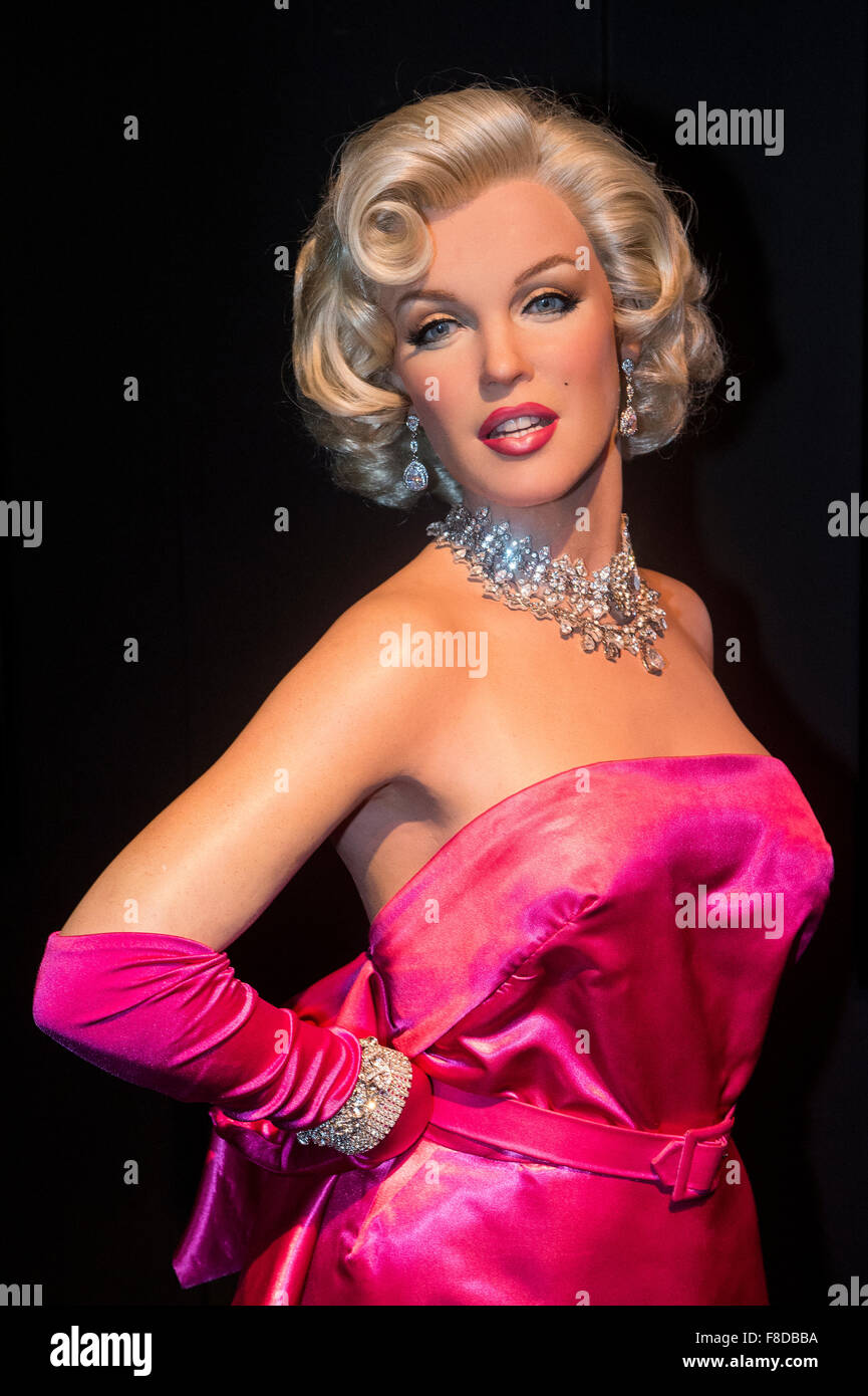 A waxwork of Marilyn Monroe at The Madame Tussauds museum in Las Vegas - Stock Image