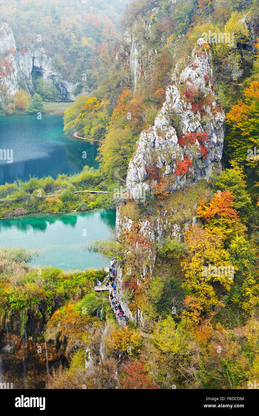 Plitvice Lakes National Park, autumn landscapes, Croatia, UNESCO - Stock Image