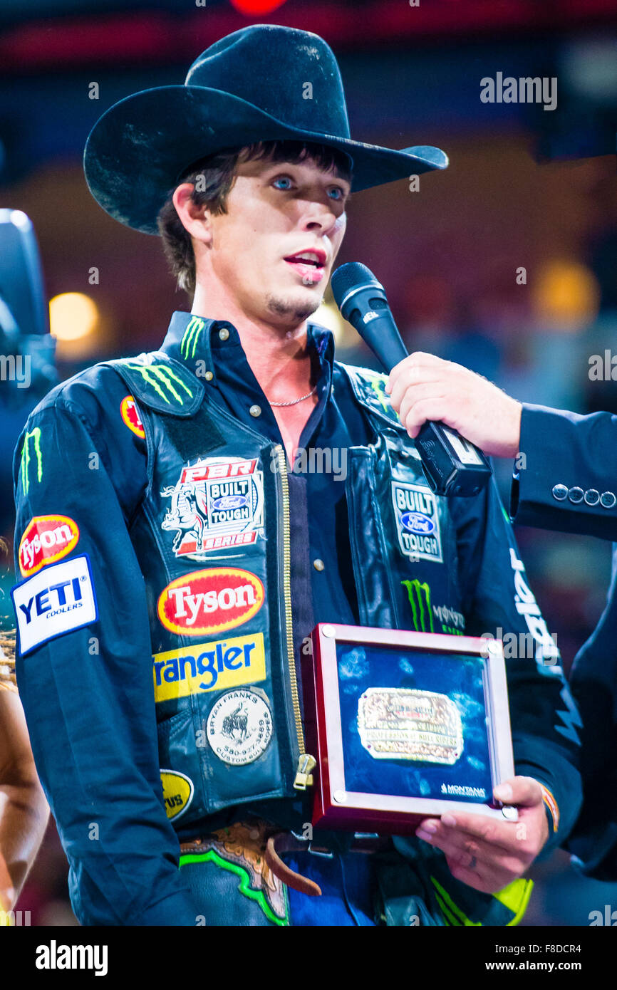 7fdf6db8993a0 J.B. Mauney on stage after winning the PBR bull riding world finals in Las  Vegas