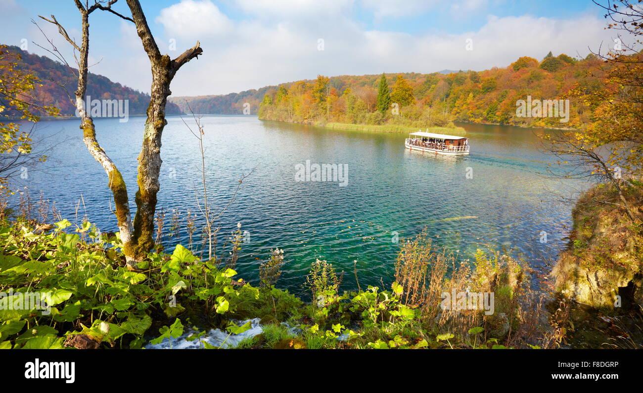 Plitvice Lakes National Park in autumn, Croatia, UNESCO - Stock Image