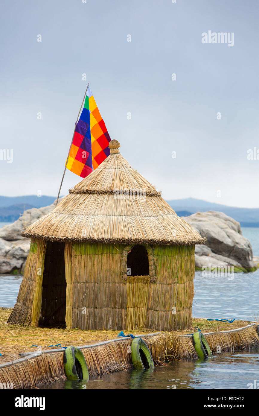 Typical architecture on the Lake Titicaca, Bolivia - Stock Image