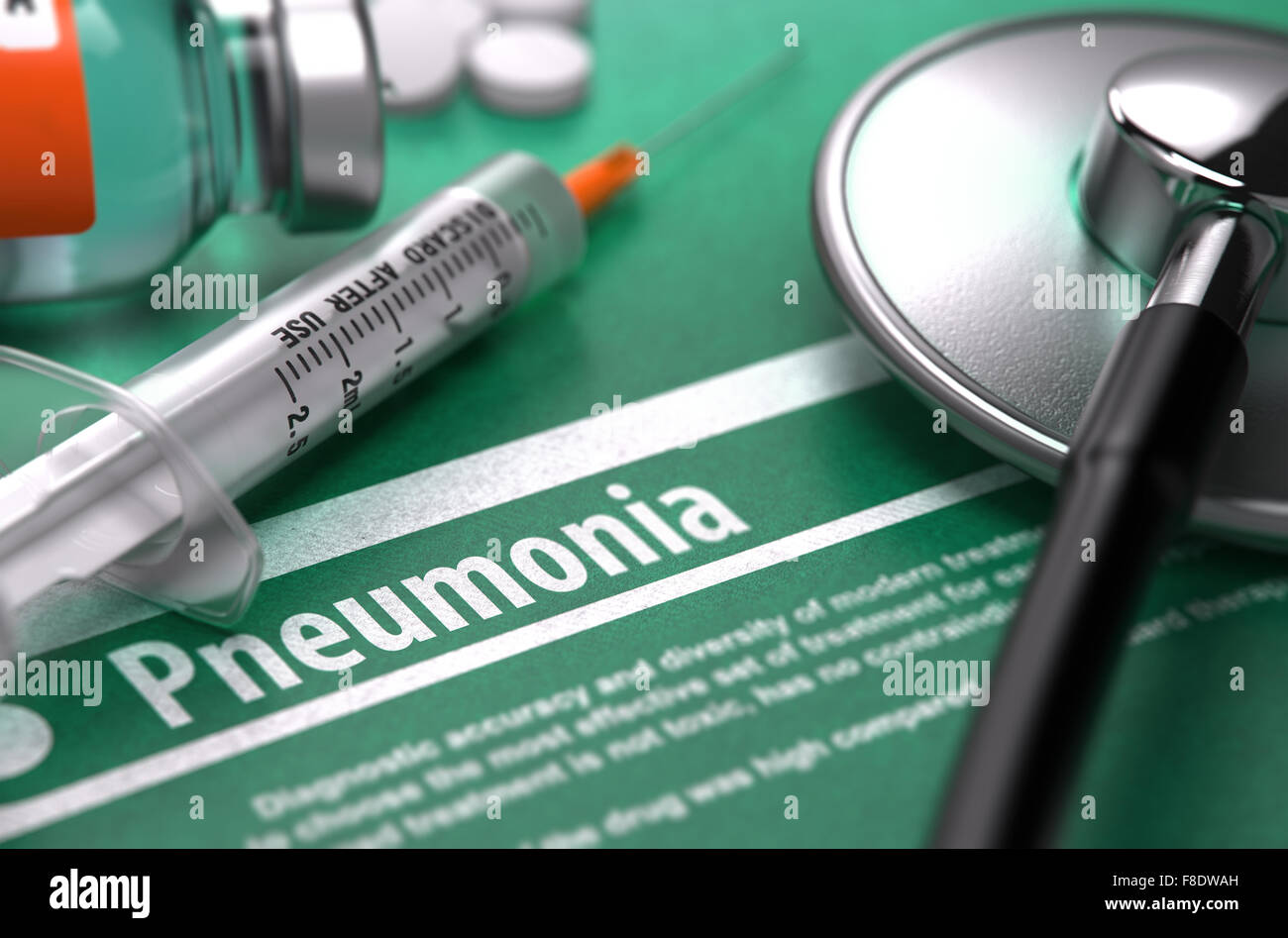 Diagnosis - Pneumonia. Medical Concept. - Stock Image