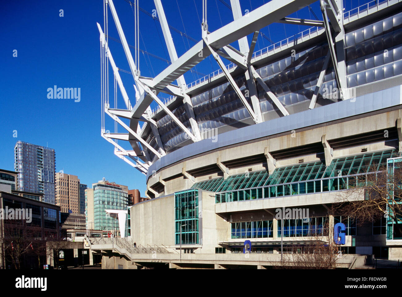 BC Place Stadium, Vancouver, BC, British Columbia, Canada - New Retractable Roof on Sports Arena - Stock Image