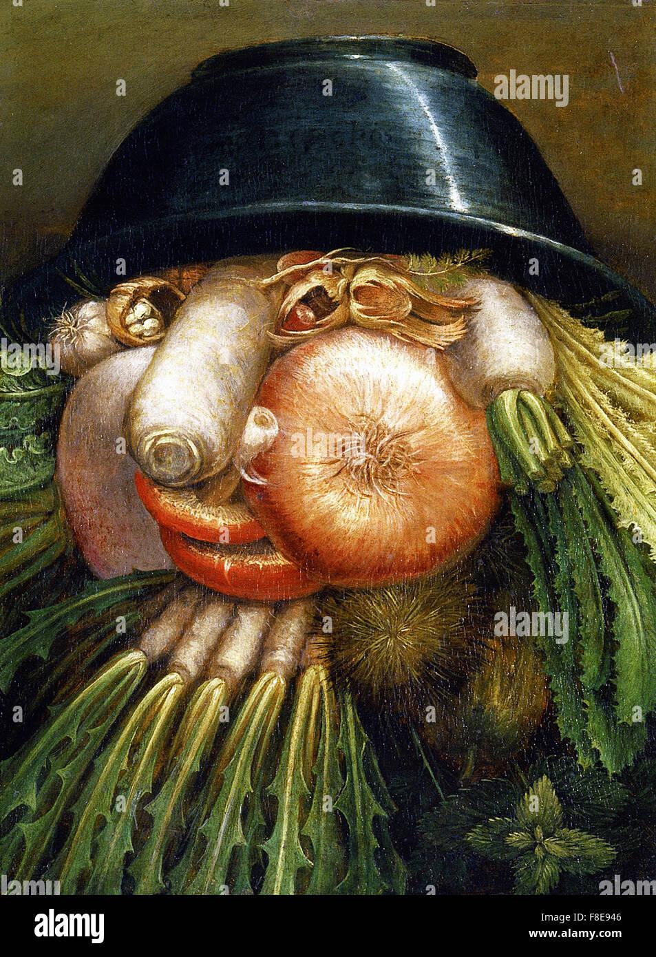 Giuseppe Arcimboldo - The Vegetable Gardener - Stock Image