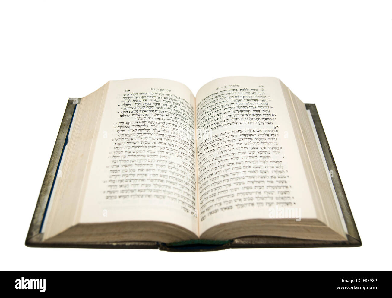 Open bible with the original Hebrew text - Stock Image