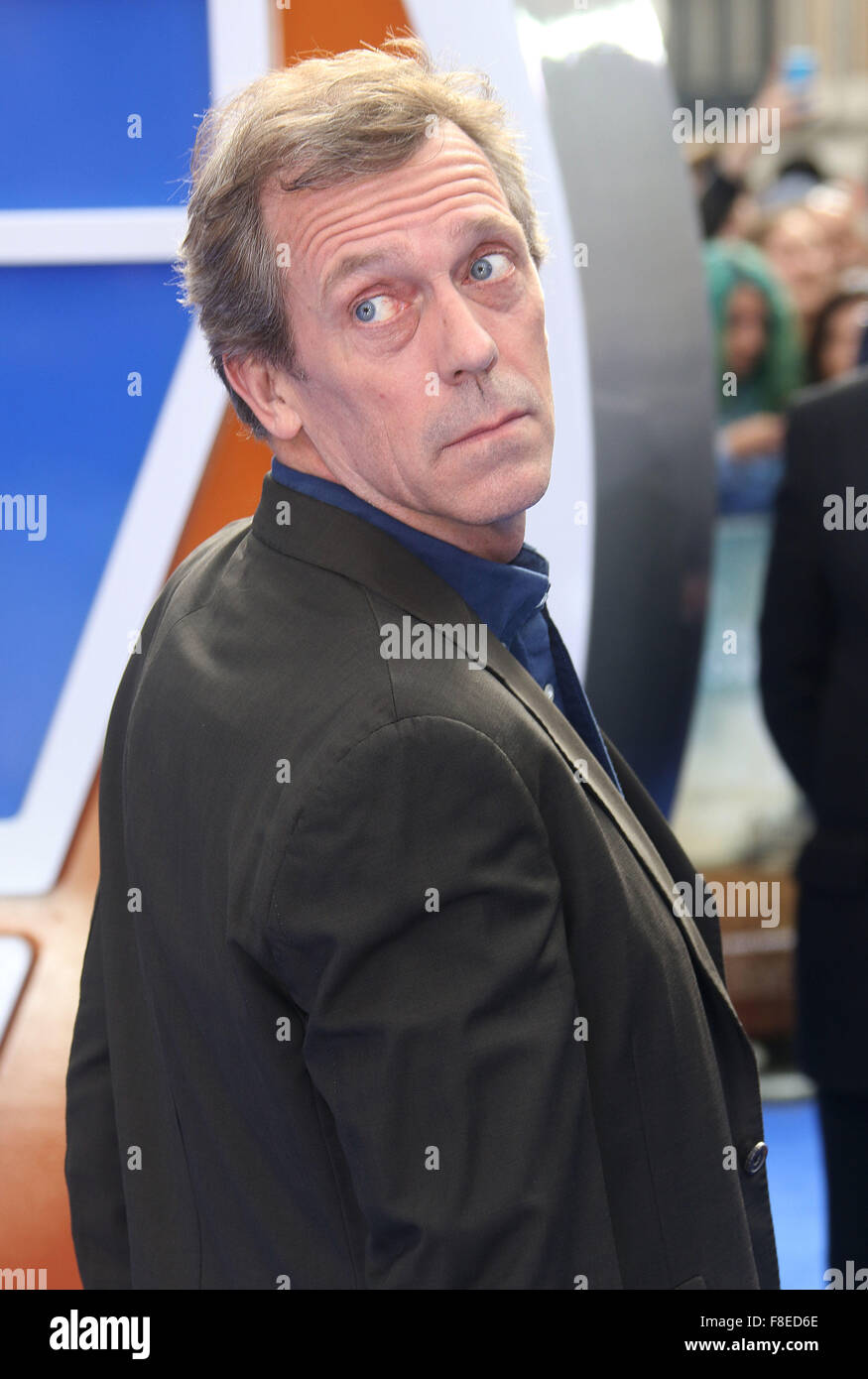 May 17, 2015 - London, England, UK - Hugh Laurie attending Tomorrowland: A World Beyond European Premiere, Odeon - Stock Image