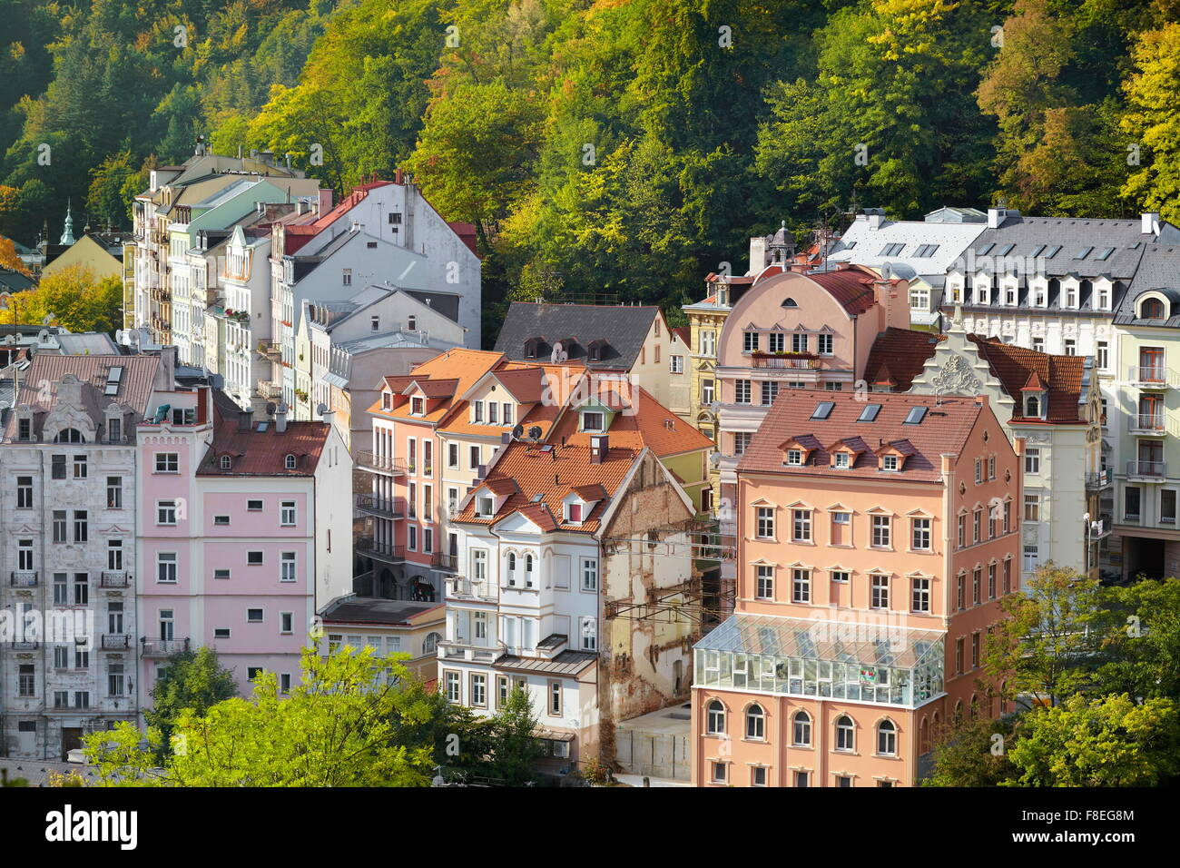 Karlovy Vary Spa, Czech Republic - Stock Image
