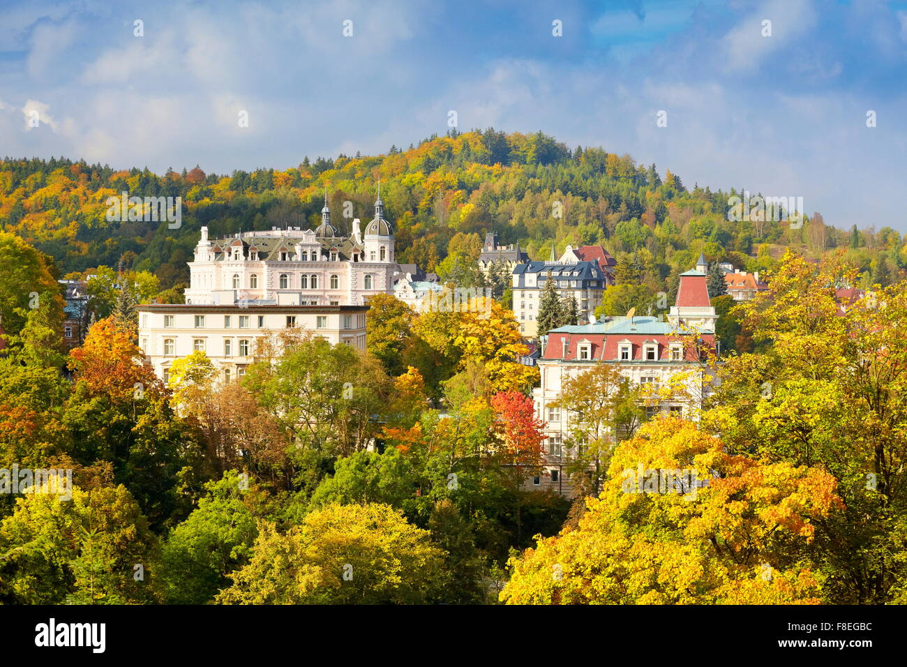 Karlovy Vary Spa, Bohemia, Czech Republic, Europe - Stock Image