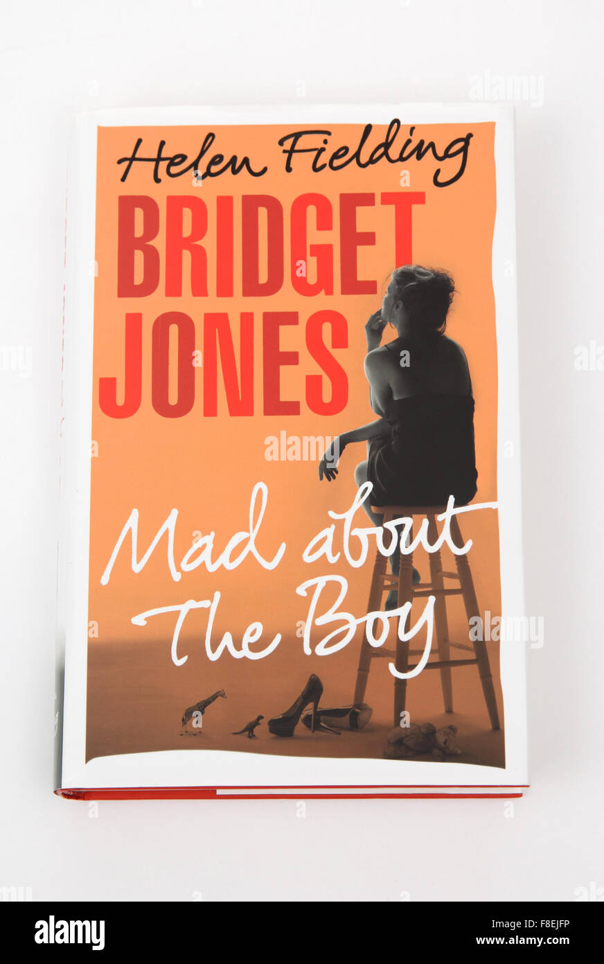 The book Bridget Jones - Mad about The Boy - by Helen Fielding. - Stock Image