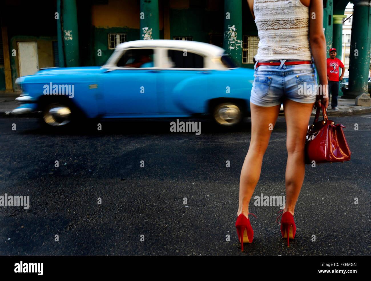 Havana, Cuba. 02nd Mar, 2015. Thousands of American veteran cars go through the streets of Havana, in Cuba, March - Stock Image