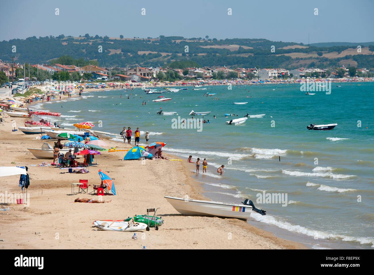 Türkei, Thrakien, Provinz Edirne, Mittelmeer, Strand von Erikli - Stock Image