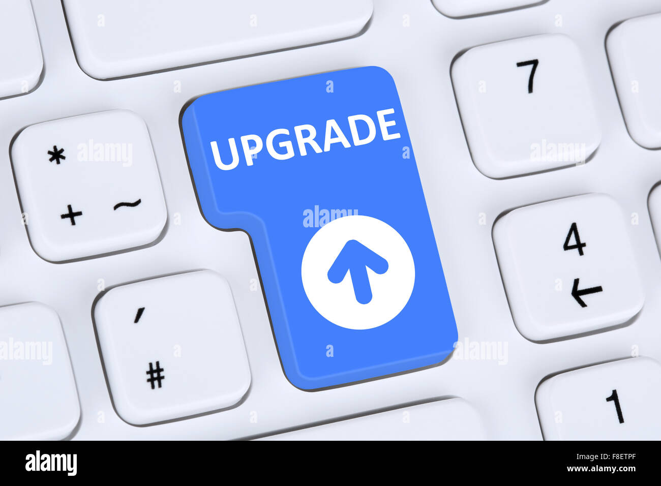 Upgrade Upgrading Software Program Computer Icon Keyboard