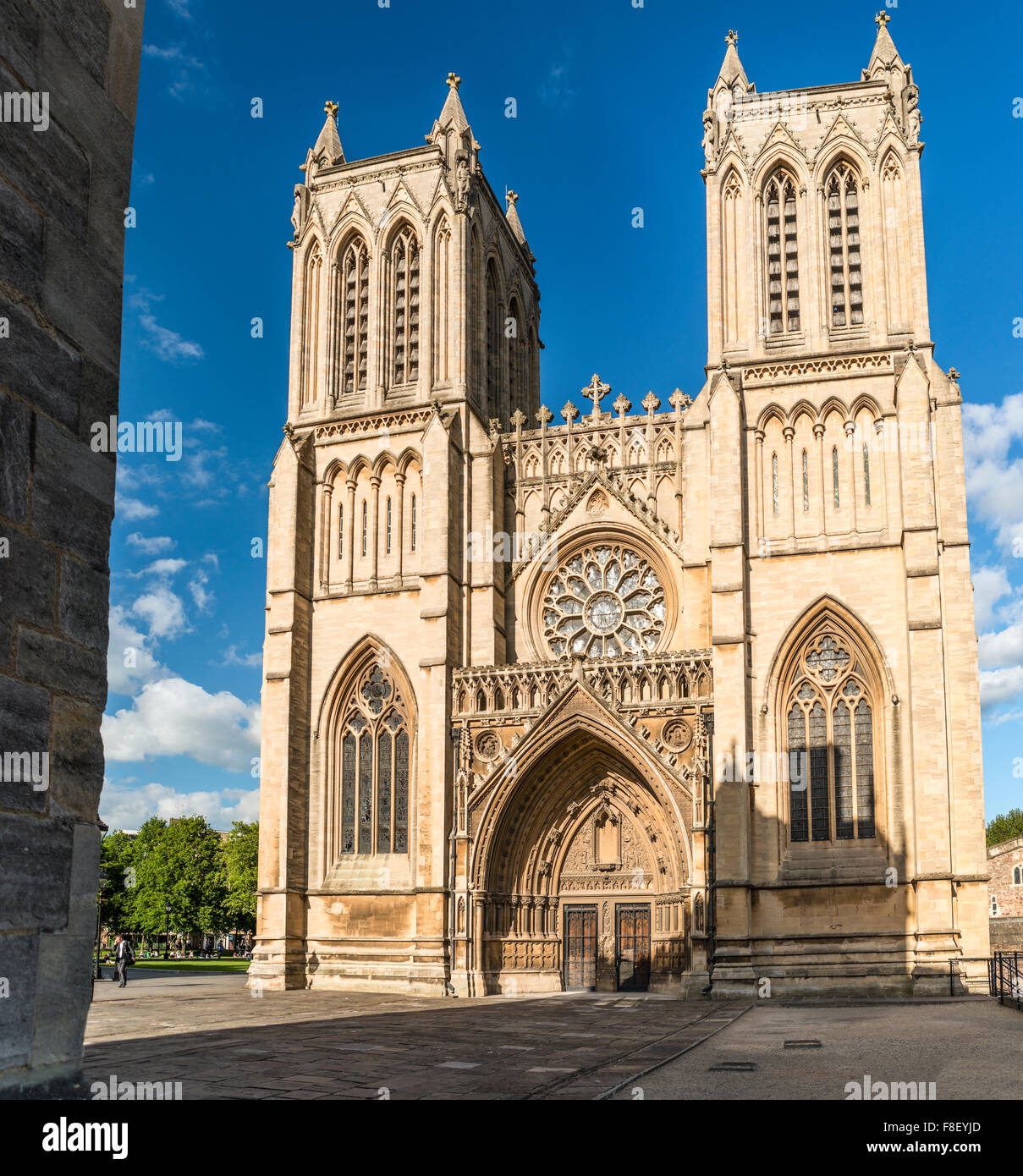 The Cathedral Church of the Holy and Undivided Trinity, also known as Bristol Cathedral, on College Green, Somerset, - Stock Image