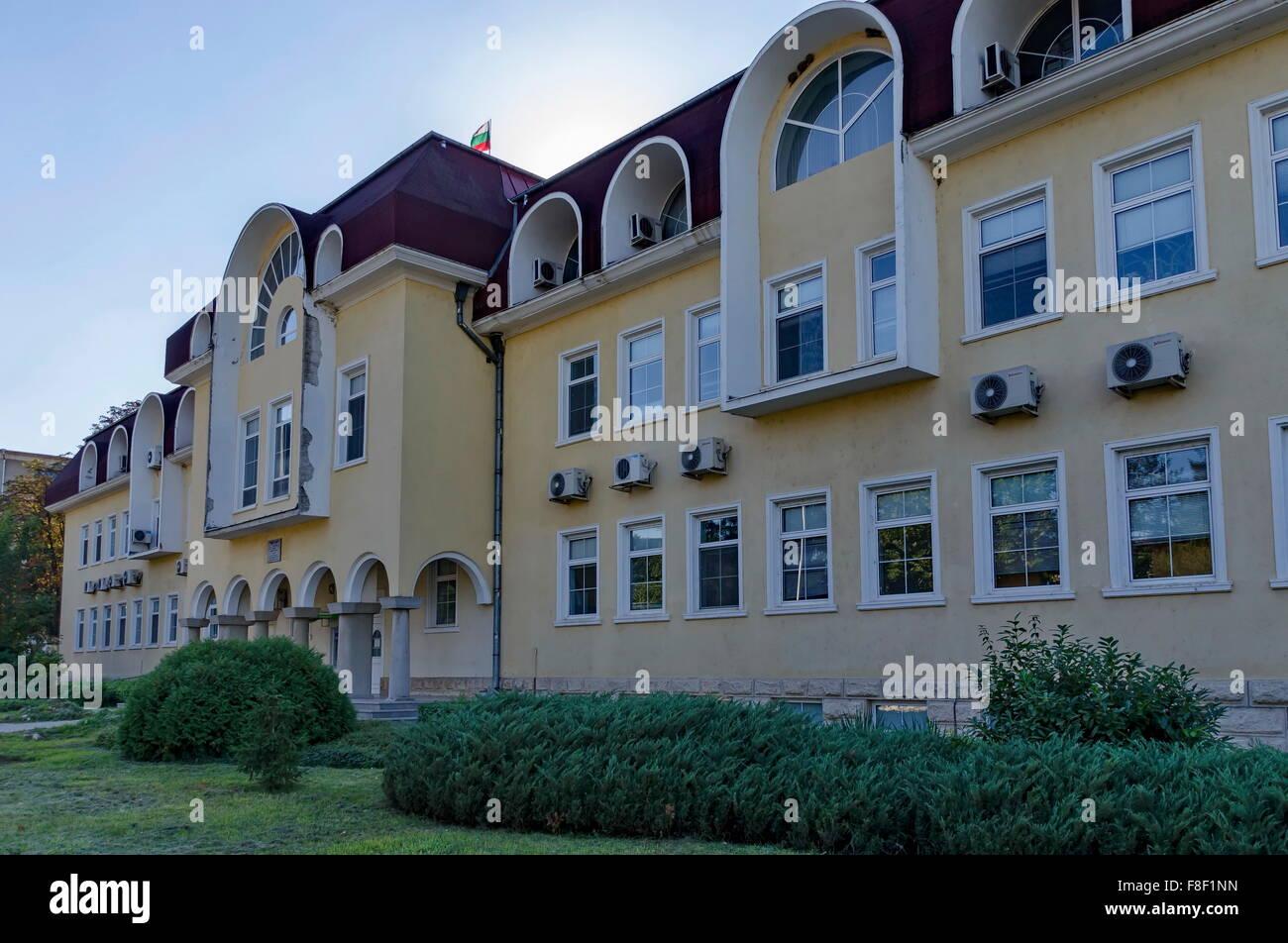Profitable building in Razgrad town, Bulgaria - Stock Image