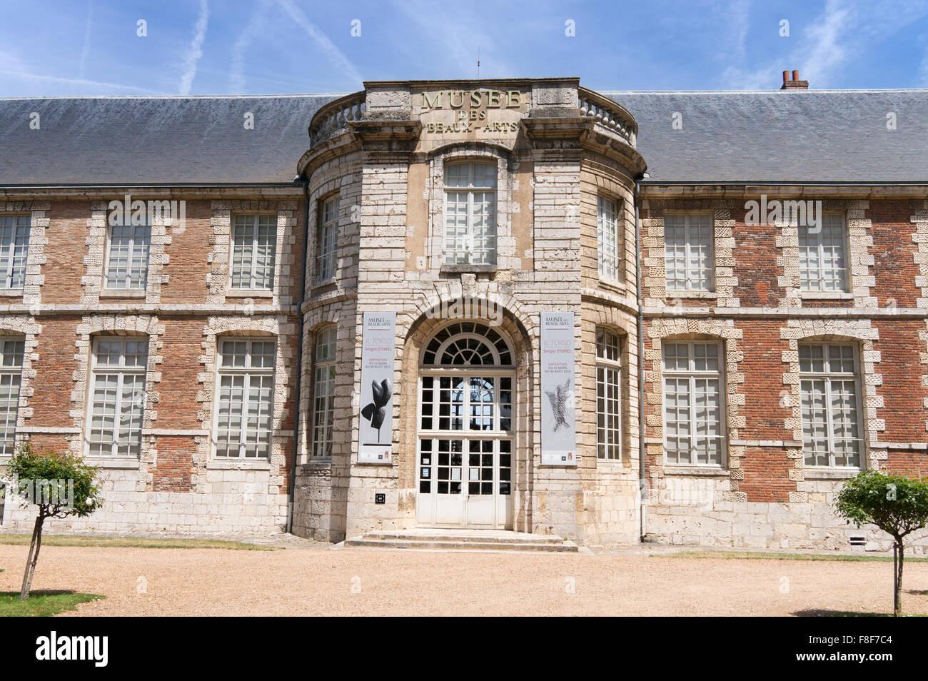 Musée des Beaux-Arts,former Episcopal Palace, Chartres,  Eure-et-Loir, France, Europe Stock Photo