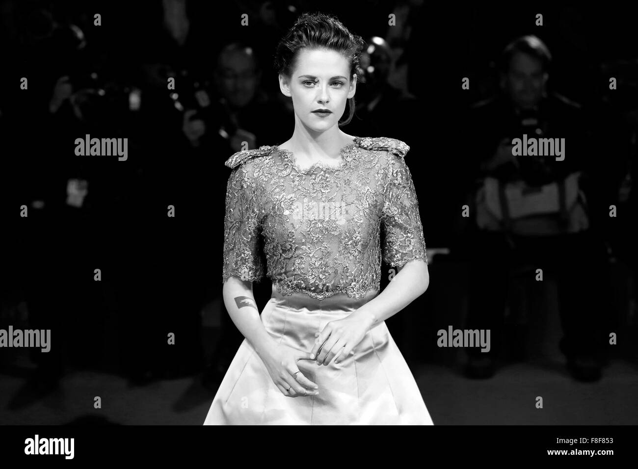VENICE, ITALY - SEPTEMBER 5: Kristen Stewart attends the premiere of 'Equals' during the 72nd Venice Film Festival Stock Photo