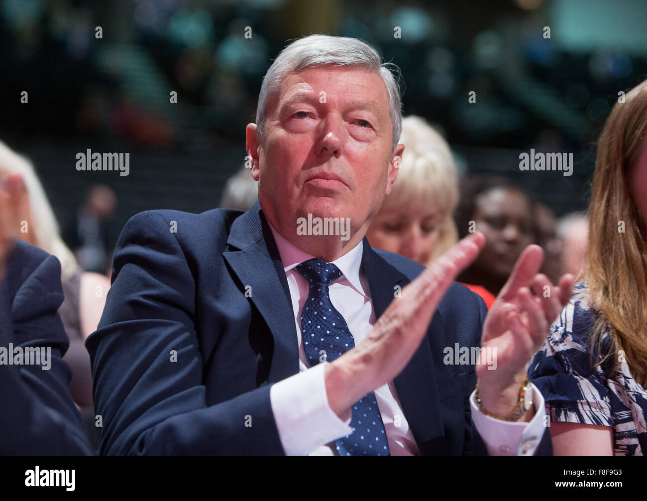 Former Labour Home Secretary Alan Johnson at the Labour party conference - Stock Image