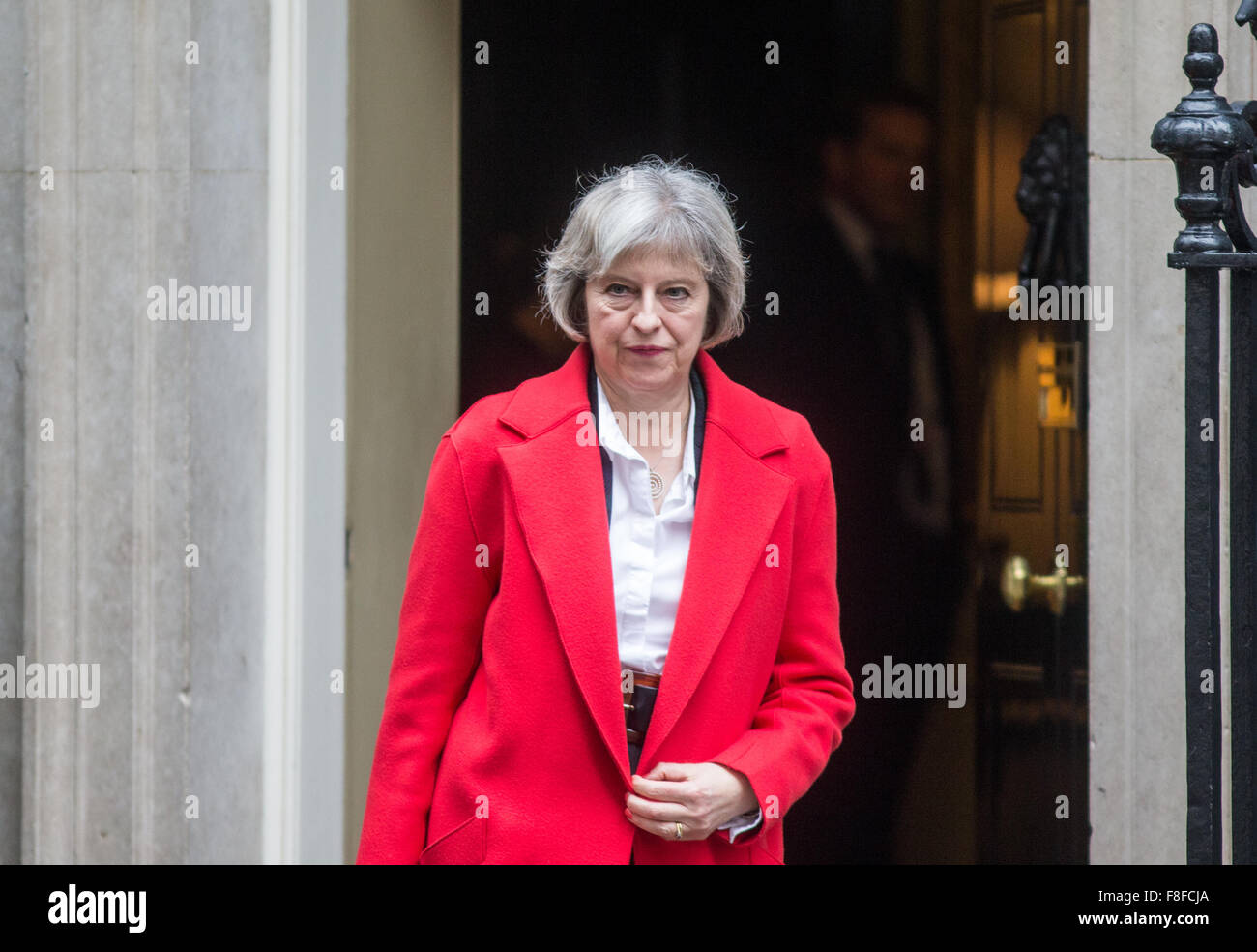 Theresa May,Home secretary,leaves10 Downing street after a cabinet meeting - Stock Image