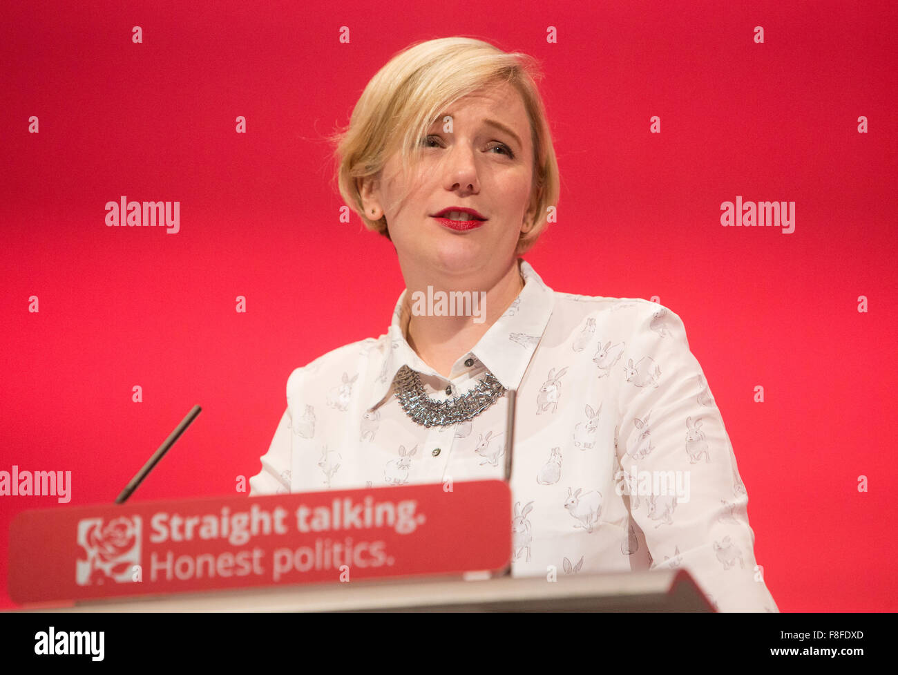 Stella Creasey,MP for Walthamstow,speaks at the labour party conference in Brighton - Stock Image