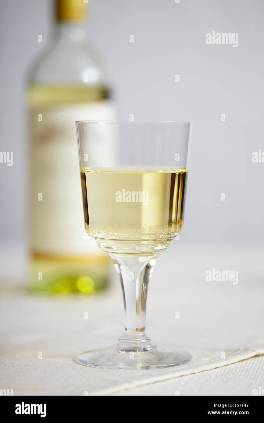 Wine and bottle - Stock Image