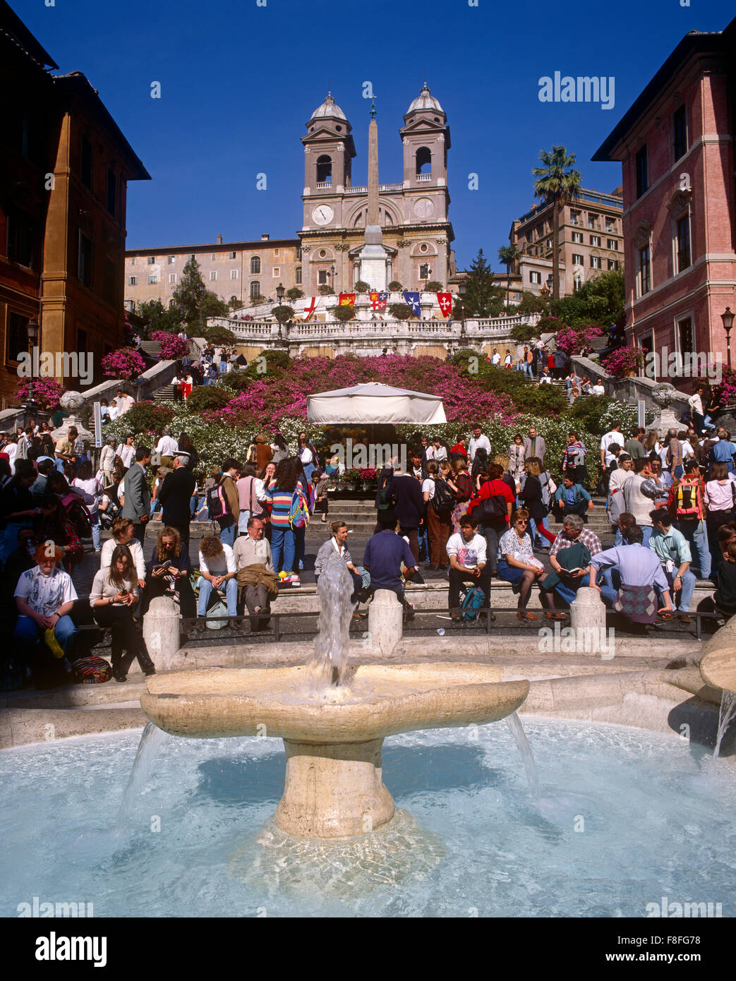 Spanish Steps, Rome, Lazio, Italy - Stock Image
