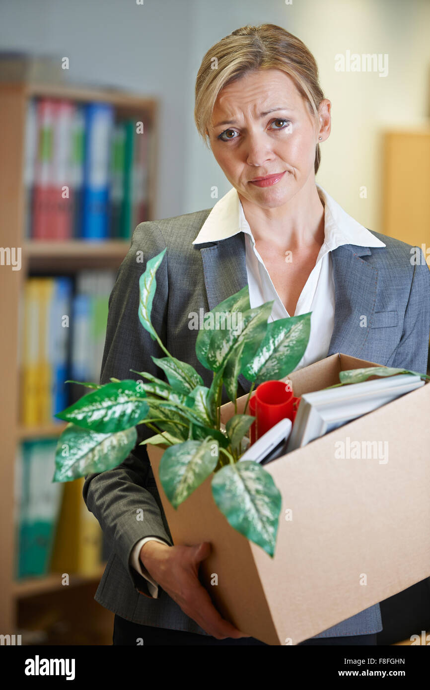Redundant Businesswoman In Office - Stock Image