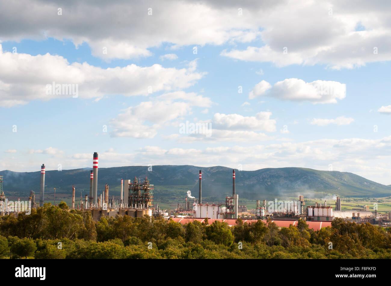 Refinery. Puertollano, Ciudad Real province, Castilla La Mancha, Spain. Stock Photo