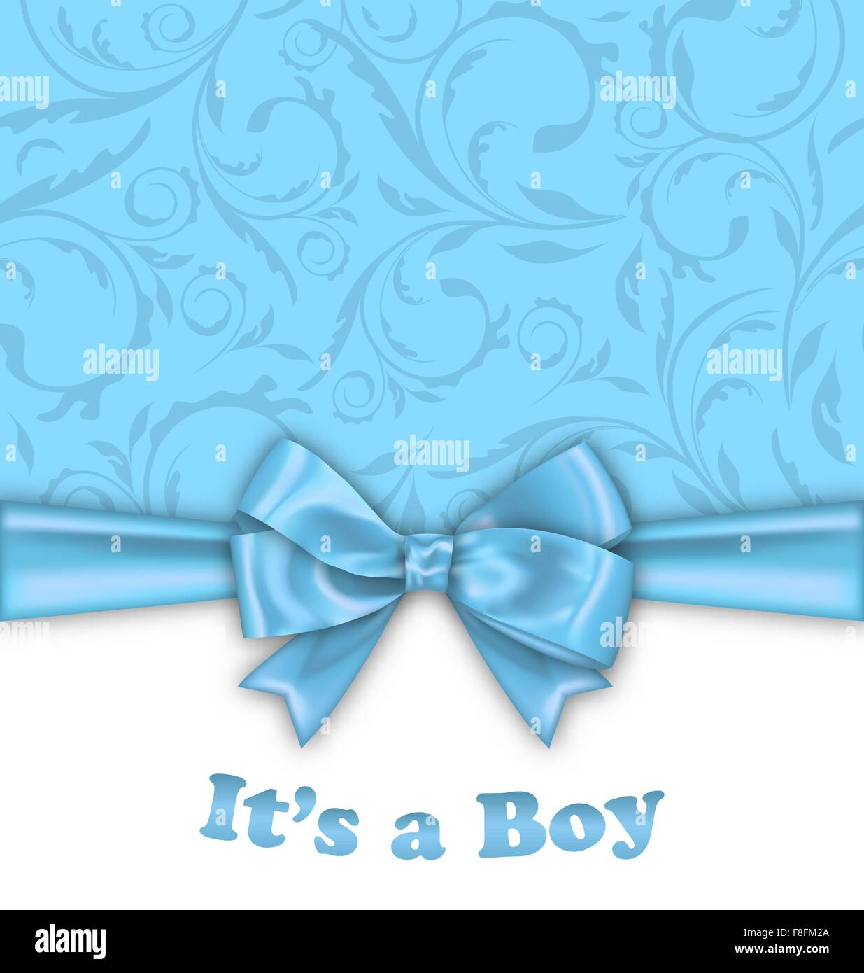 Boy baby shower invitation card with blue bow ribbon stock vector boy baby shower invitation card with blue bow ribbon filmwisefo