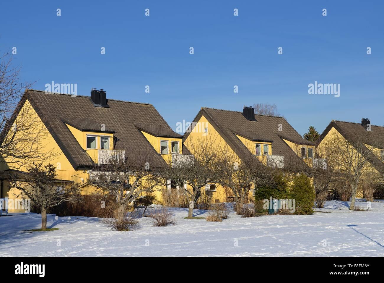 Generic Swedish house. - Stock Image