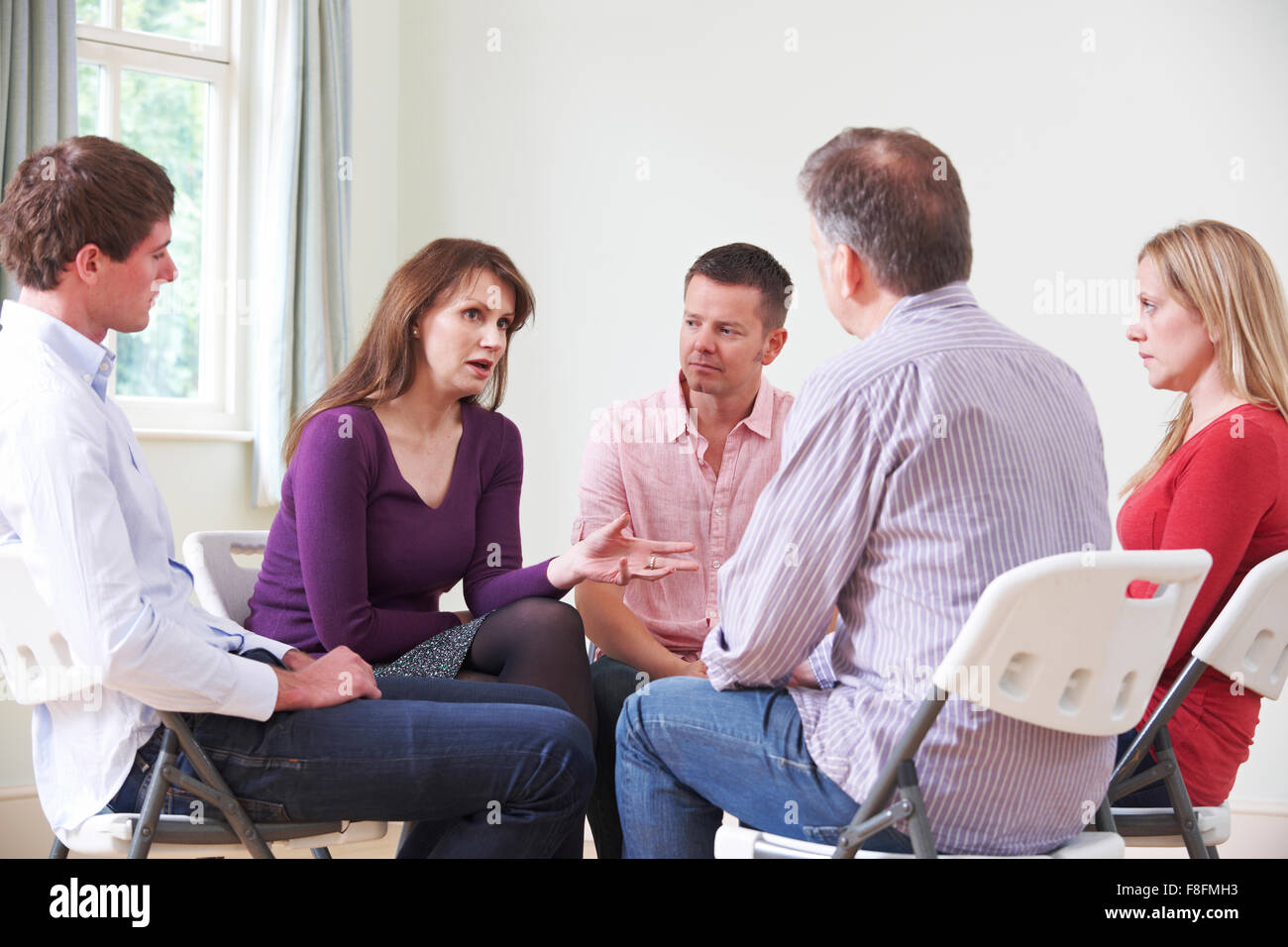 Meeting Of Support Group - Stock Image
