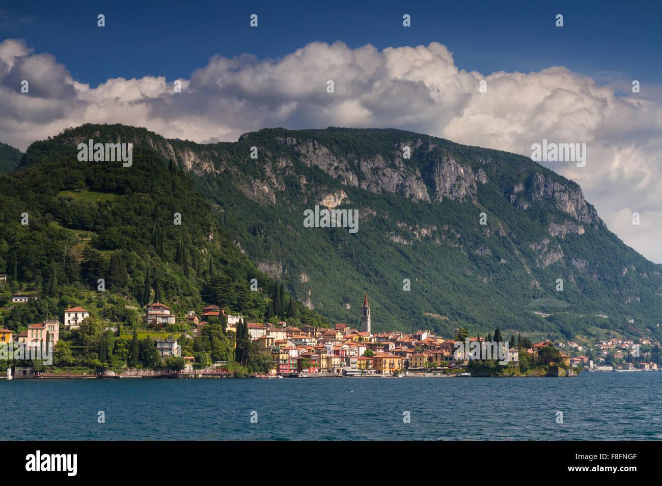 Cityscape of Varenna, Lake Como, Lombardia, Italy - Stock Image