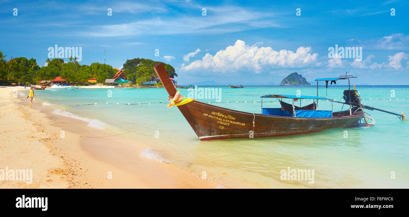 Tropical beach, Phi Phi Island, Thailand - Stock Image