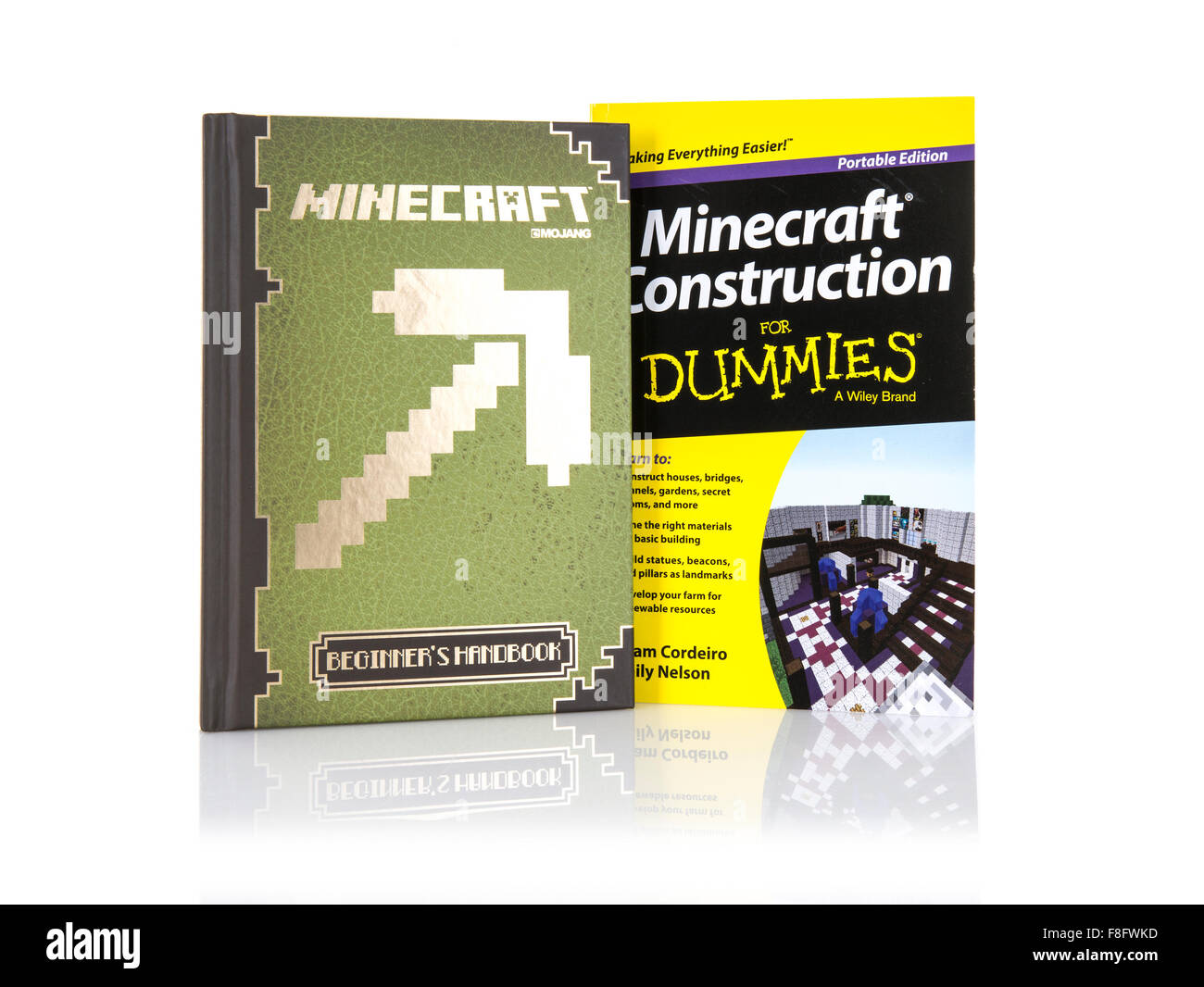 Minecraft game Books on a White Background - Stock Image