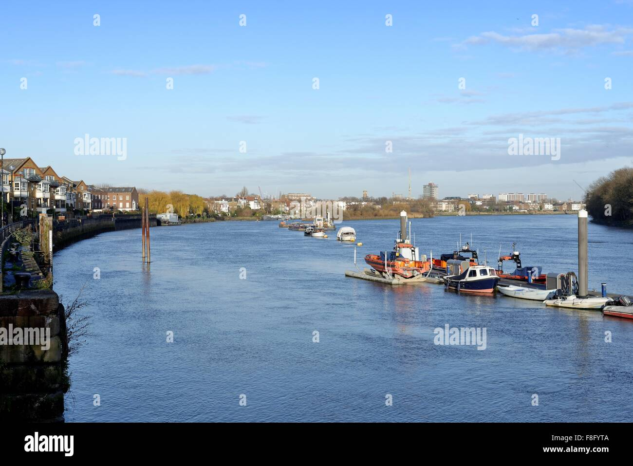 River Thames at Chiswick reach London England UK - Stock Image