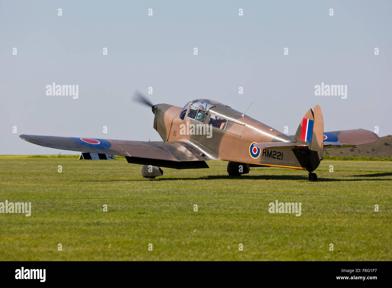De Havilland Gypsy Queen about to take off - Stock Image