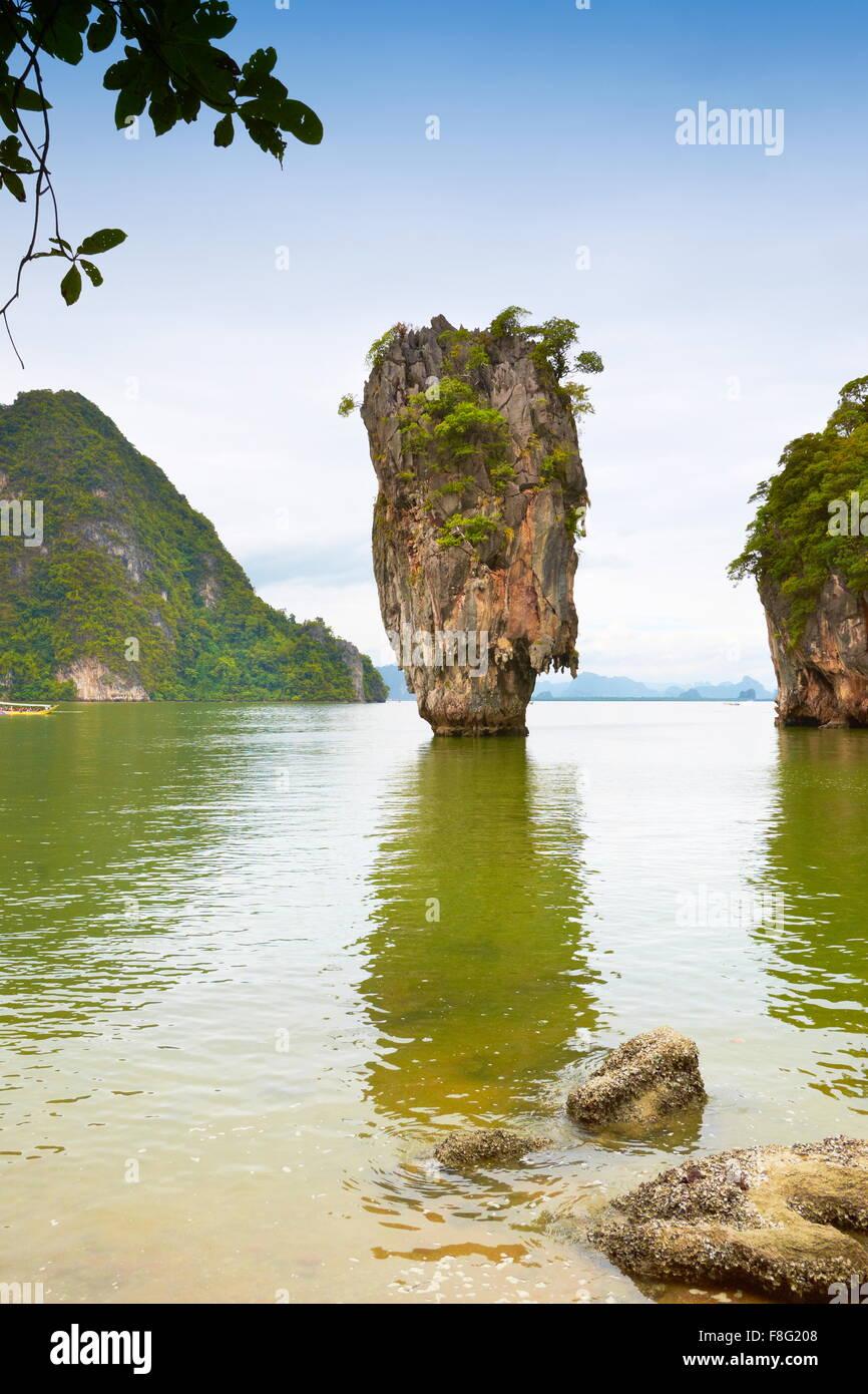 Thailand - James Bond Island, Phang Nga Bay - Stock Image