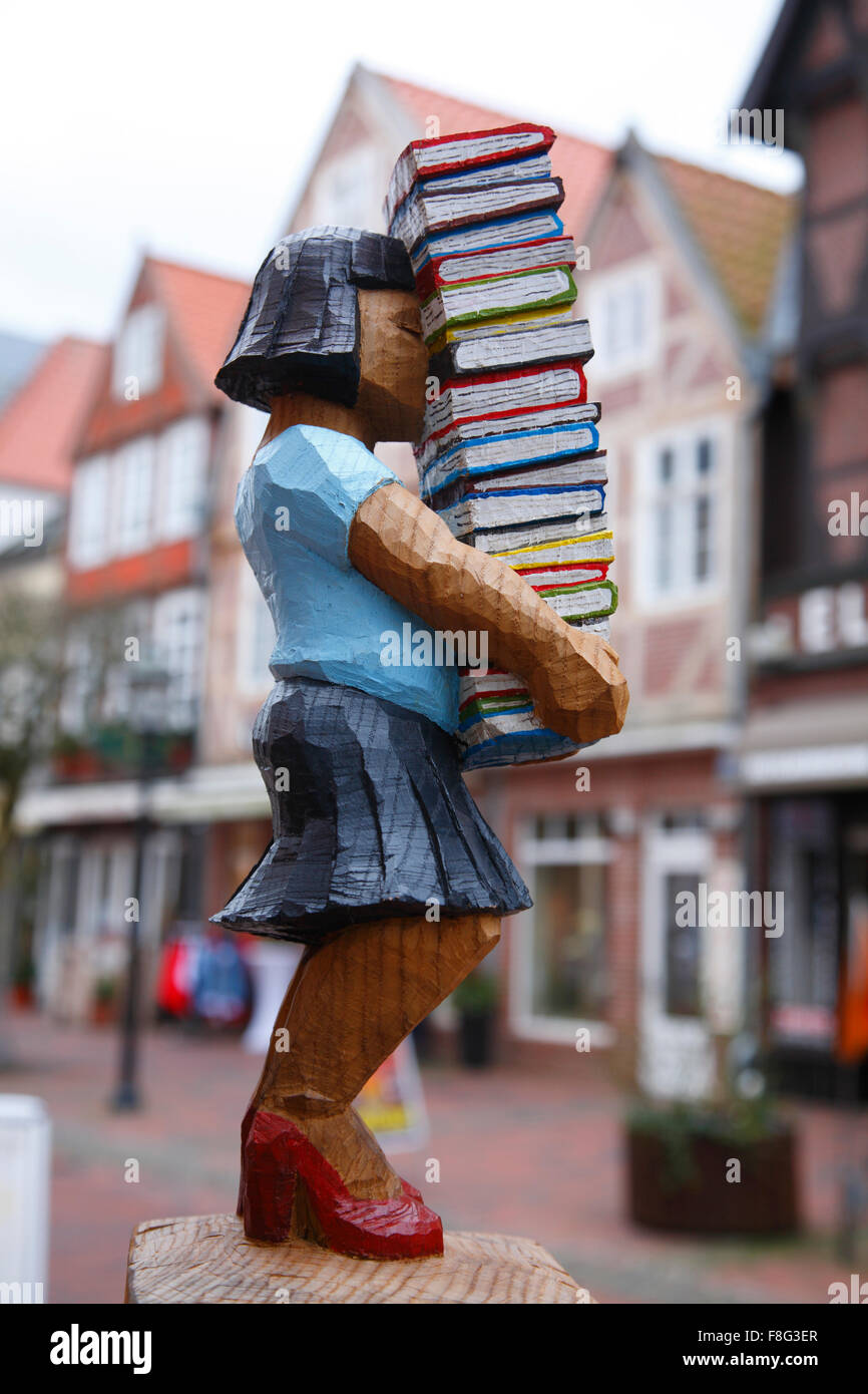 Skulptur,  Buxtehude, Lower Saxony, Germany, Europe - Stock Image