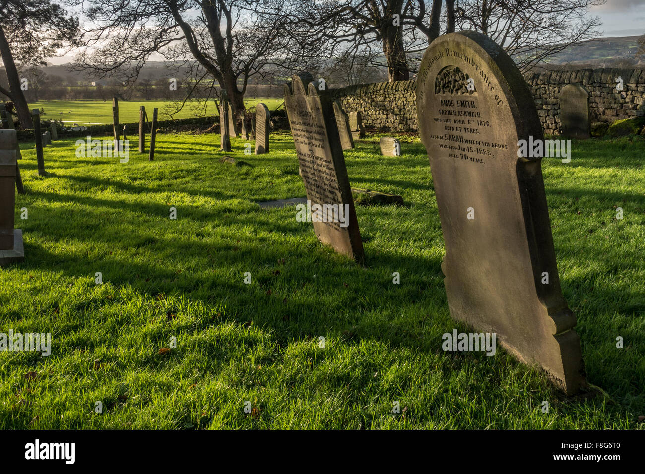 Graveyard telling a life story of early deaths - Stock Image