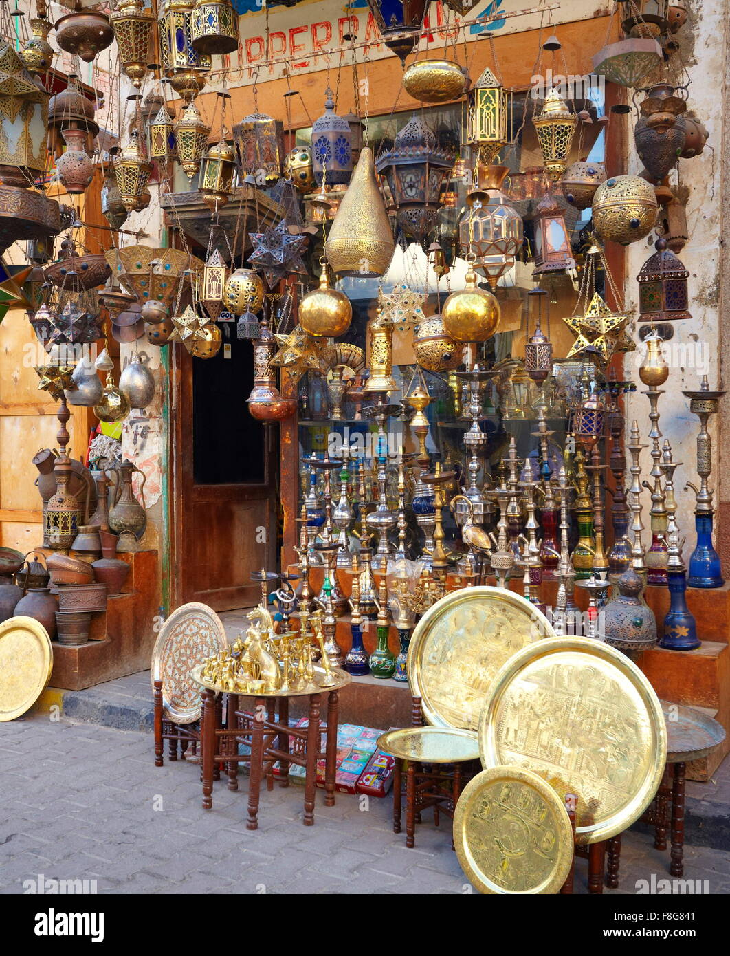 Egypt - Hurghada, bazaar in the old part of town - Stock Image