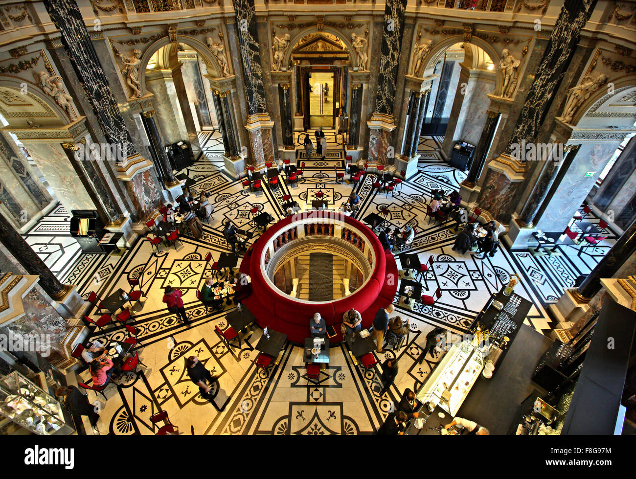 "The atmospheric café of the Art History museum (""Kunsthistorisches Museum""), Vienna, Austria. Stock Photo"
