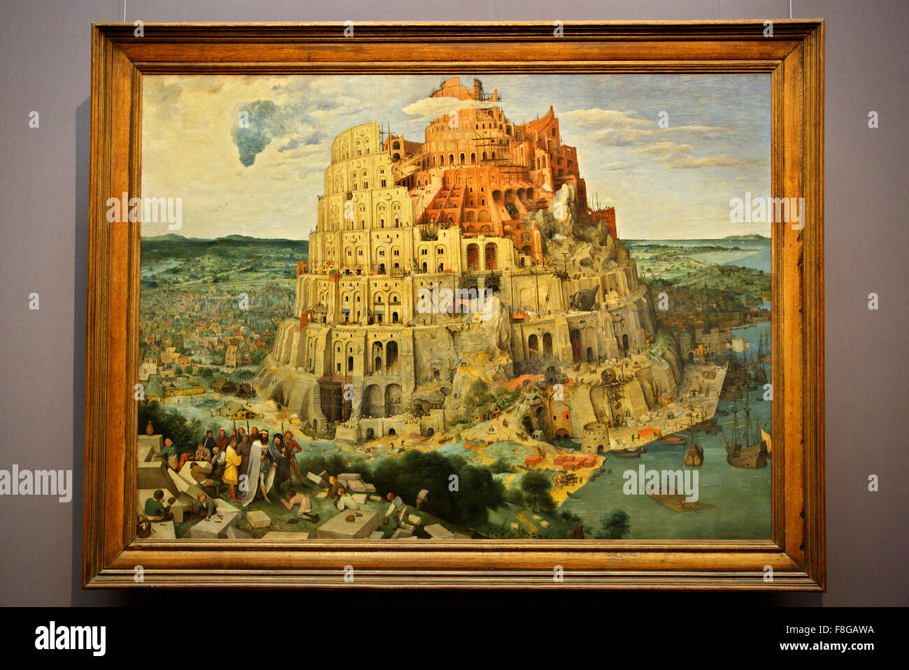 The Tower Of Babel By Pieter Bruegel The Elder In The Art History Stock Photo Alamy